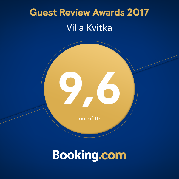 награда Booking Villa 2018